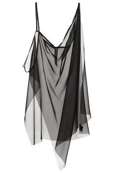 LOUISE ALSOP BLACK CHIFFON 3-WAYTANK TOP Black tank top with layers able to be styled in 3 ways. Raw edge finish. 100% silk chiffon. SIZE & FIT Women's sizing. Fits true to size. LOUISE ALSOP Louise Alsop is a London-based designer known for her layered, sheer pieces and graphic prints that hint at 90s cyber-goths, millennial popstars and witches.