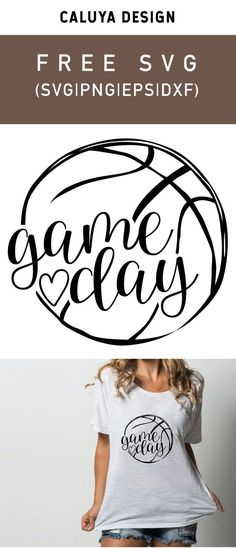 Free Basketball Game Day SVG, PNG, EPS & DXF by Caluya Design. Compatible with Cameo Silhouette, Cricut and other major cutting machines! Perfect for your DIY projects, Giveaway and personalized gift. Perfect for Planner customization! Sport Basketball, Basketball Shirts, Cricut Vinyl, Svg Files For Cricut, Vinyl Decals, Cricut Air, Cricut Fonts, Planner Stickers, Free Printable Clip Art