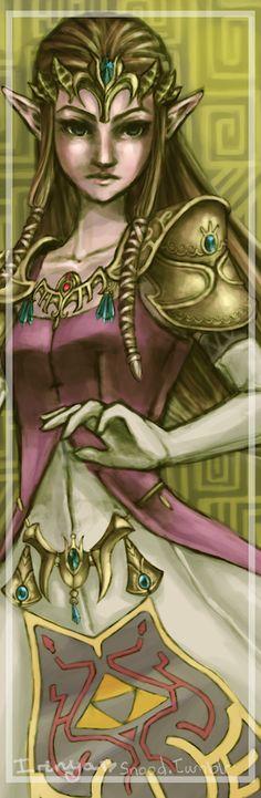 Princess Zelda Bookmark by Irinya.deviantart.com