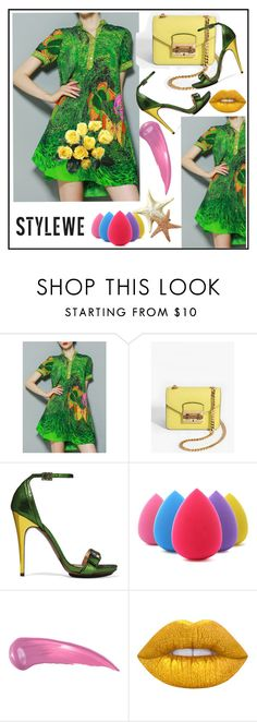 """STYLEWE #5"" by nizaba-haskic ❤ liked on Polyvore featuring WithChic, Lanvin, Anastasia Beverly Hills and Lime Crime"