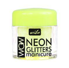 Neonowy pyłek brokatowy w kolorze neonowej kwaśnej cytryny