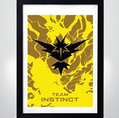 POKEMON GO Team INSTINCT   Wall Art Print  Poster by MixPosters