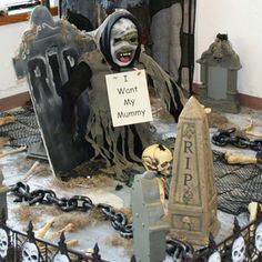 candlelit spooky candy display goodwill halloween decorations pinterest candy candy display and halloween