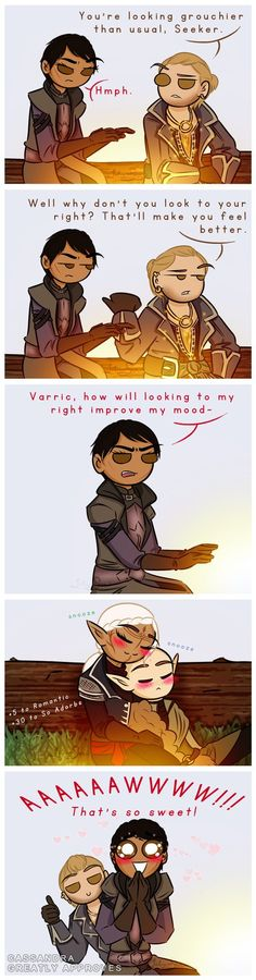 Wow, it was so cute that it reverted Leliana back to her personality in Origins! BD Heart Brushes provided by TutosLily The first You Can Be My Wingman Anytime. Lavellan, Solas, Cole...