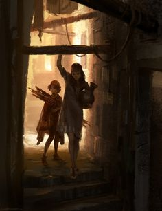 """""""Where are we going?"""" """"This way."""" """"Why?"""" """"It's different.""""_passageway by #wildweasel339  #art #DeviantArt"""