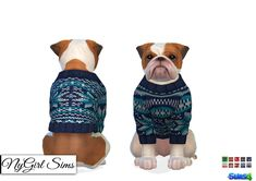 Dogs Knitted Holiday Sweater. My knitted holiday... - NyGirl Sims