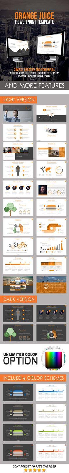 Orange Juice PowerPoint Template #design #slides Download: http://graphicriver.net/item/orange-juice-powerpoint-template/12177815?ref=ksioks
