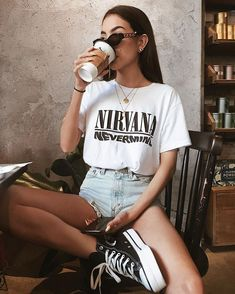 Vintage Outfits, Vintage Clothing, Cute Summer Outfits, Cute Casual Outfits, Outfit Summer, Casual Dresses, Summer Outfits For Teen Girls Hipster, Summer Clothes, Edgy Outfits