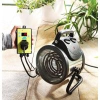 Palma Electric Greenhouse Fan Heater - With Digital Thermostat Controller - Greenhouse Heaters, Heating A Greenhouse, Greenhouse Plans, Greenhouse Gardening, Mini Garage, Carports, Budget Planer, Electric Fan, Mug
