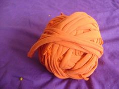 "Have old t-shirts that you just can't throw away, but will never wear again? It can be made into ""yarn"" for a knitter!"