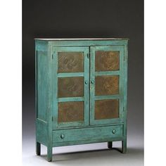 Southern Pie Safe in Blue Paint,
