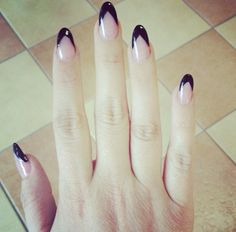 Nail design Black pointy nails daggers. Simple but fabulous!