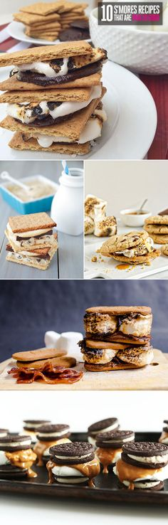 "10 S'Mores Recipes That Are OMG So Good  S'mores are a classic: graham cracker, a square of chocolate, and a toasted marshmallow. So genius, right? But like all timeless goodies, there are revamped versions that can make your tastebuds go, ""Whoa! Gimme more!"" all over again. Here are 10 delish concoctions totally worth trying out…no bonfire required."
