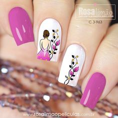 We have combined the most fashionable nail designs for you. If you want to have very nice quotes this summer, you should definitely look at these models. you are sure that one of these models is your style! Cute Nail Art, Cute Nails, Pretty Nails, Latest Nail Designs, Nail Art Designs, French Nails, Sqaure Nails, Fingernails Painted, Bridal Nail Art