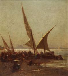 """""""Windy Day at Boulock,"""" Robert Swain Gifford, 1873, oil on canvas, 20 x 18"""", private collection."""
