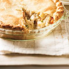 Chicken Pot Pie (The Best) - from Ricardo The crust is DIVINE! Added some thyme and poultry seasoning to the filling. Isn't too runny. Just super yum! Supper Recipes, Easy Dinner Recipes, Supper Ideas, Dinner Ideas, Turkey Recipes, Chicken Recipes, Crockpot Recipes, Cooking Recipes, Meat Recipes