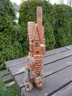 Bark Carving Whimsical Houses   the sounds in bark bark carving found wood photo options more more ...
