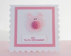 Button Buddies Pig by brandycox - Cards and Paper Crafts at Splitcoaststampers