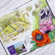 "463 Likes, 10 Comments - Настя Лемура (@cattalema) on Instagram: ""Another poppies from Powerscurt Garden, Ireland #visualjournal #visualdiary #travelbook #ireland…"""