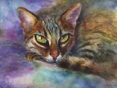 flat,550x550,075,f Watercolor Cat