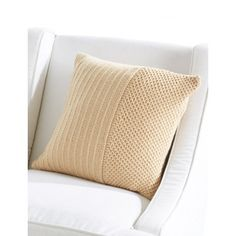 Classic Textures Pillow | Classic Textures Pillow | Free Pattern | Home Decor