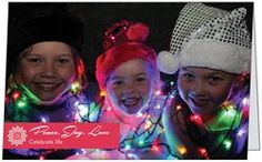 Lighting up with smiles for the family Christmas card