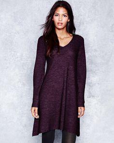 Eileen Fisher Mixed-Texture Merino Sweater Dress