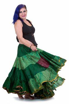 XL BELLYDANCE SKIRT boho skirt belly dance clothing by AltshopUK