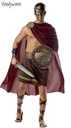 Mens Spartan Warrior Costume, Spartan Costume, Greek Warrior Costume