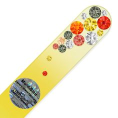 Mont Bleu Crystal Nail File hand decorated with crystals from Swarovski® Limes, What Is Glass, Fingernail File, Glass Nail File, Crystal Nails, Nail Tools, Nail Care, Mini, Swarovski Crystals
