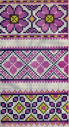 Scheme of Ukrainian embroidery (for tapestry crochet) Tapestry Crochet Patterns, Fair Isle Knitting Patterns, Bead Loom Patterns, Knitting Charts, Beading Patterns, Embroidery Patterns, Mochila Crochet, Bag Crochet, Crochet Chart