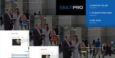 MULTIPRO - Creative Onepage PSD Template