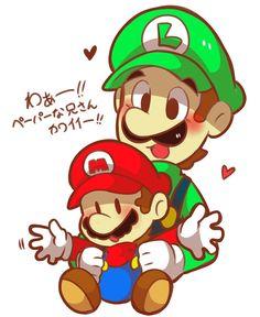 Mario Y Luigi, Super Mario And Luigi, Mario Fan Art, Nintendo, Luigi's Mansion, Amy Rose, Drawings, Cute, Anime