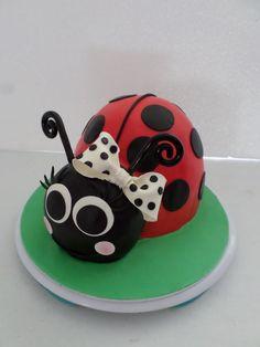 Ladybird Birthday cake