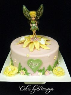 Tinkerbell in Pink and Yellow - Cake by Raewyn Read Cake Design