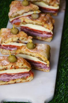 3 Make-Ahead Recipes for your ESPN College Football Playoff National Championshi. - 3 Make-Ahead Recipes for your ESPN College Football Playoff National Championship Party - Party Sandwiches, Delicious Sandwiches, Wrap Sandwiches, Sandwiches For Dinner, Gourmet Sandwiches, Reuben Sandwich, Soup And Sandwich, Muffuletta Sandwich, Sandwich Ideas