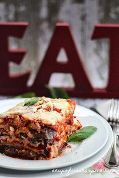 Eggplant Lasagna {delicious, healthy, vegetarian, gluten free}