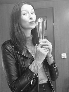 Cait and her Anglophile TV award