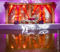 Suhaag Garden, Florida Indian Wedding Decorator, California Indian Wedding Decorator, San Fransisco Indian Wedding Decorator, Mehndi Stage, Sangeet Stage, Colorful Drapery, Bride and Groom Seating, Garba Focal Point, Sangeet Focal Point