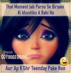 Hahaha Funny Chat, Very Funny Jokes, Hilarious, Desi Quotes, Girly Quotes, Just For Gags, Funny Note, Desi Humor, Girl Truths