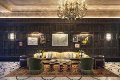 Gerner Kronick + Valcarcel oversaw the architectural renovation, and Martin Brudnizki Design Studio handled the interiors.