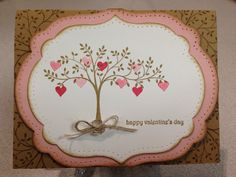 Stampin' Up Valentine Card. Sets: Make A Cake, Teeny Tiny Wishes, Thoughts & Prayers. #susanjenne