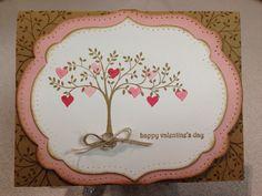 Stampin' Up Valentine Card. Sets: Make A Cake, Teeny Tiny Wishes, Thoughts & Prayers. #susanjenne