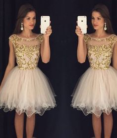 Homecoming Dress,Homecoming Dresses,Short Prom Gown,Champagne Homecoming Gowns,2016 Homecoming Dress,Ball Gown Homecoming Dresses,2016 Sweet 16 Dress For Teens
