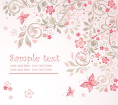 pink vintage backgrounds | Pink Floral Vector Background | Free Vectors Daily | Download High ...