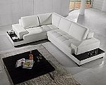 Marie Leather Sectional Sofa  - Side Lights / Side Tables Built In -  $2,750.00