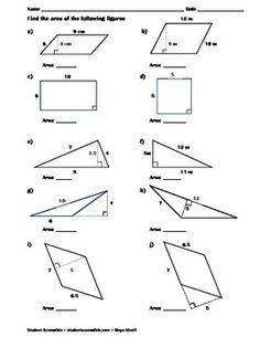 Printables Area Of Parallelograms Worksheet area parallelogram worksheet davezan collection of bloggakuten