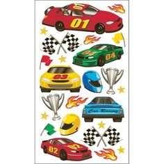 Sticko Stickers-Race Cars - race cars
