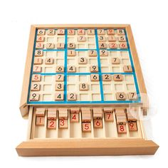Digital Sudoku Puzzles Wood Number Beech with Darwers Sudoku Chess Board Game Puzzles & Magic Cubes Learning & Education GH145