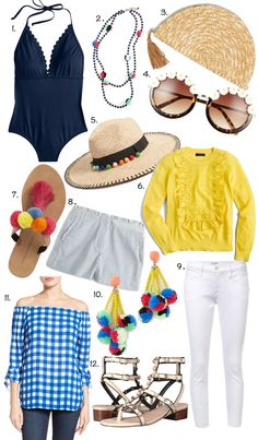 Scalloped Swimsuit, Tassels, Pom-poms and more cute things for spring...click through to find all the details!